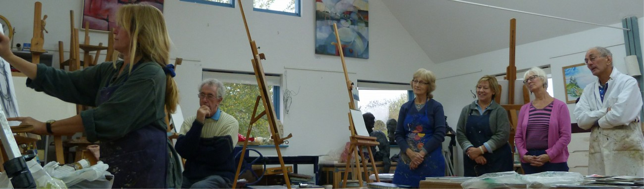 Painting workshop at the Phoenix art school, Towersey
