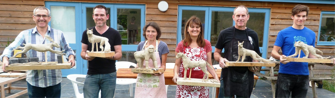 Ceramic Animal course creates smiley happy people