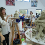 clay life modelling at Phoenix Studio, Towersey, Oxfordshire
