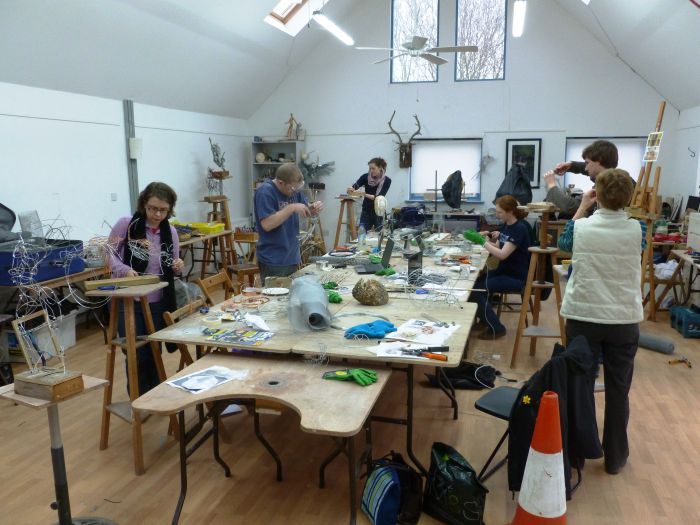 Wire and mixed media sculpture course at the Phoenix Studio art ...