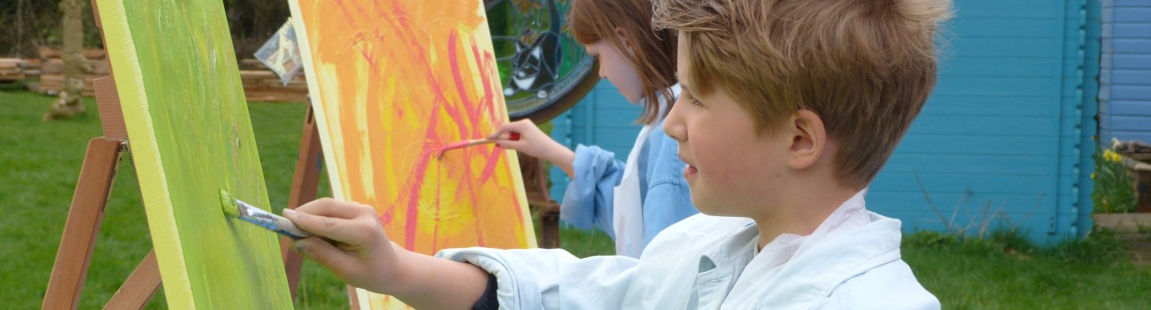 Young painters getting into colour!