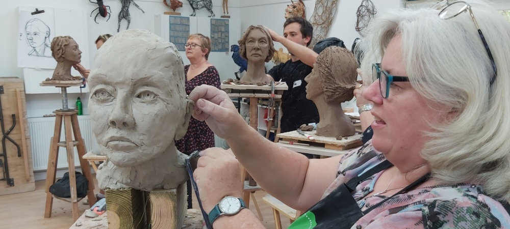 Clay Portrait Weekend with Karin Ort, 2021